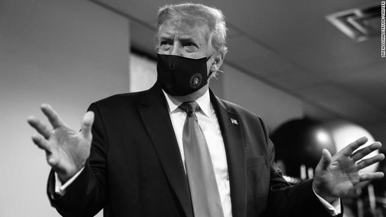 See video of Trump just hours after mask tweet