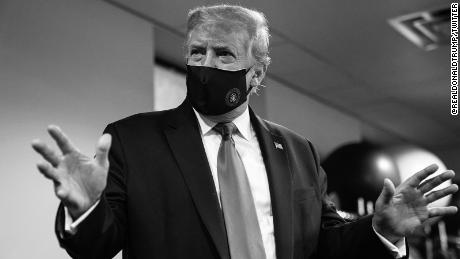 President Donald Trump posted this photo of himself wearing a mask to his official Twitter account.