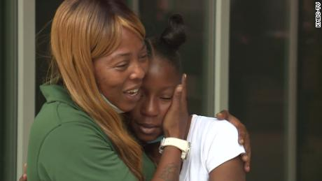 Shetara Sims and her 12-year-old daughter, Rakiya.