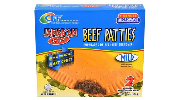 Caribbean Frozen Foods Jamaican Style Beef Patties - Mild - 9oz