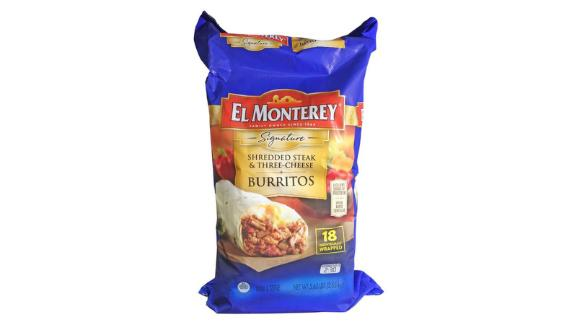 El Monterey Shredded Steak & Three-Cheese Burritos