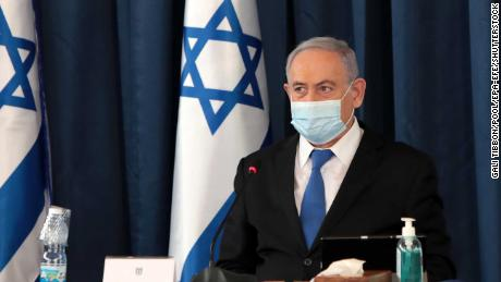 The protesters are angry for different reasons, but all of it is directed at Israeli Prime Minister Benjamin Netanyahu, seen here opening a cabinet meeting on July 5.