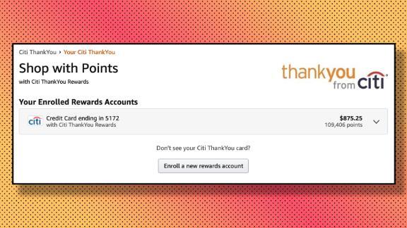 Enroll your Citi ThankYou credit card in Amazon