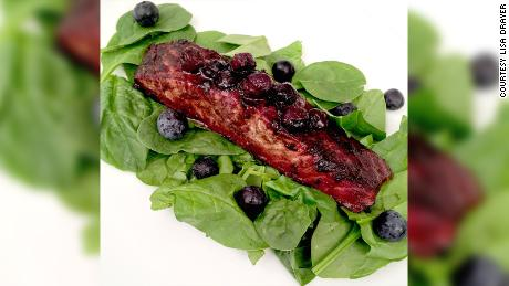 Salmon and a blueberry glaze make this summer dish a health powerhouse.
