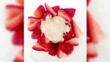 Strawberries with chamomile cashew cream make for a great summer desert.