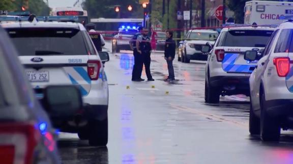 Image for 15 injured in Chicago drive-by shooting at funeral for man killed in drive-by shooting