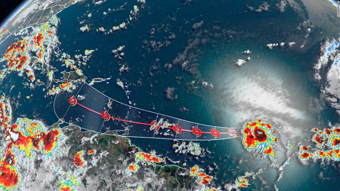 Tropical Storm Gonzalo sets a record as it churns toward the Caribbean