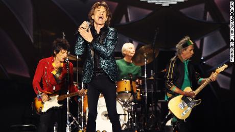 Les Rolling Stones en concert à Adelaide Oval à Adélaïde, Australie, le 25 octobre 2014.