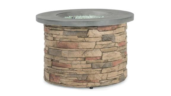 Sego Lily Sage Faux Stone Fire Table