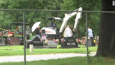 The body of Alonzo Brooks was exhumed on Tuesday, 16 years after he was found dead in a Kansas creek.