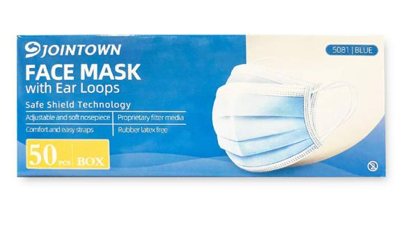 Jointown Face Masks, 50-Pack
