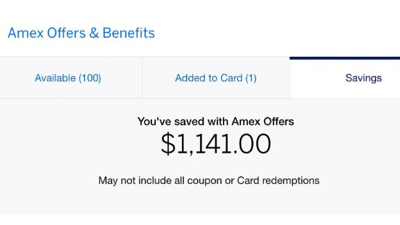 You can save thousands of dollars over time with Amex Offers.