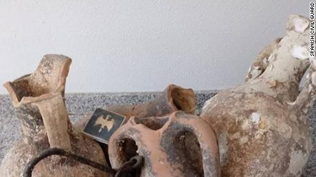 Ancient Roman artifacts discovered by police in Spanish seafood store