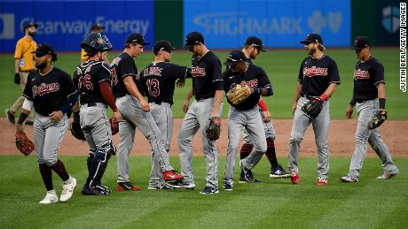 Cleveland Indians said in a statement Thursday the players feel strongly about social justice and racial equality.