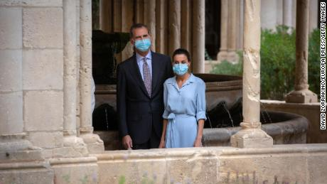 King Felipe VI and Queen Letizia visit the Monastery of Santa Maria de Poblet in Tarragona in July during a nationwide tour of Spain. In March, Felipe renounced any personal inheritance from his father.