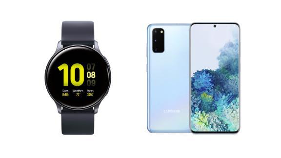Samsung Galaxy Watch Actve2 and Samsung Galaxy S20