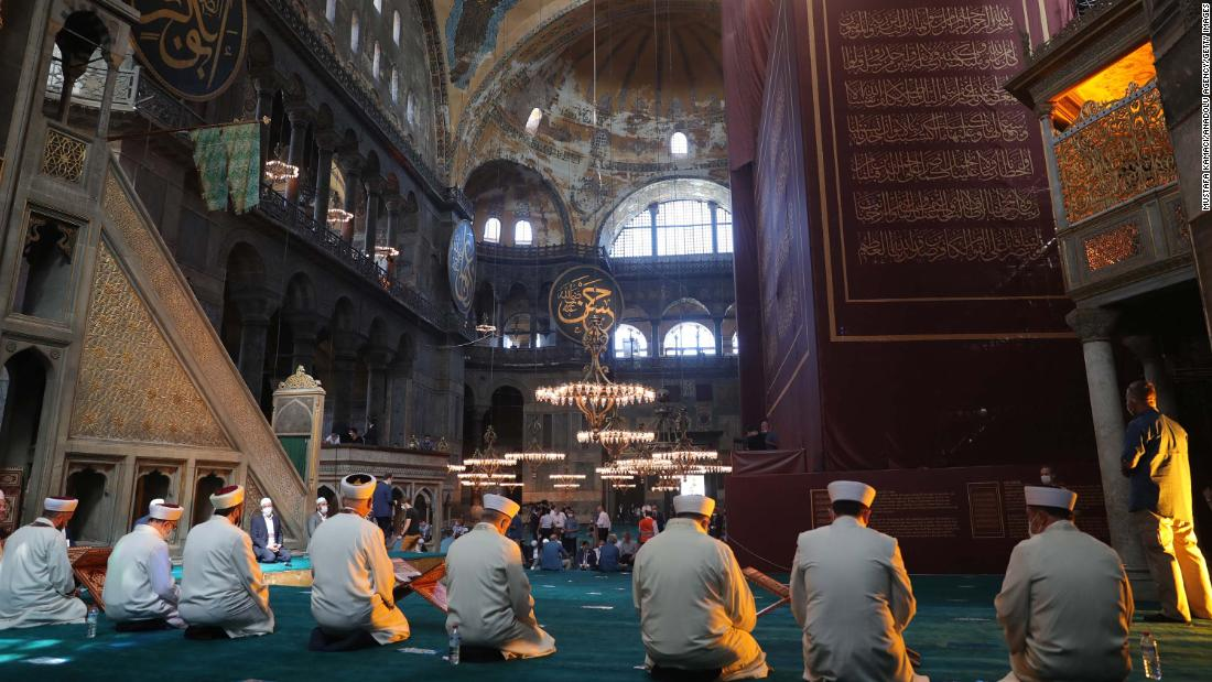Turkey's Hagia Sophia holds first Friday prayers since conversion back to mosque - CNN