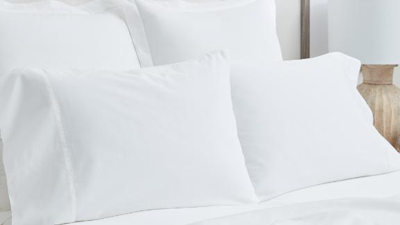 Their ethically sourced sheets range from their classic, soft-woven signature-fabric hemmed sheets to cool and crisp percale sheets.