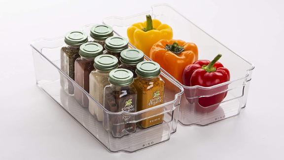 Bino Stackable Plastic Organizer Storage Bins, 2-Pack