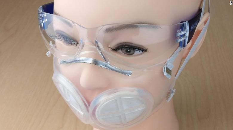 A prototype of the iMASC, a new silicone mask that can be safely reused without fear of contamination.