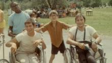 """""""Crip Camp"""" 1968: At Camp Jened in the Catskills, youngsters with disabilities learned to be self-sufficient and proud. Some campers went on to found the disability rights movement that helped pass the Americans with Disabilities Act of 1990."""