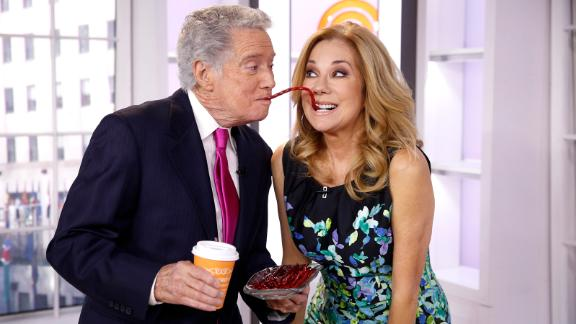 """Regis Philbin and Kathie Lee Gifford appear on NBC's """"Today"""" in 2015."""