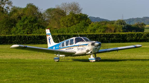 A Piper PA-32 aircraft, similar to the plane in this photo, crashed in a Utah neighborhood Saturday.