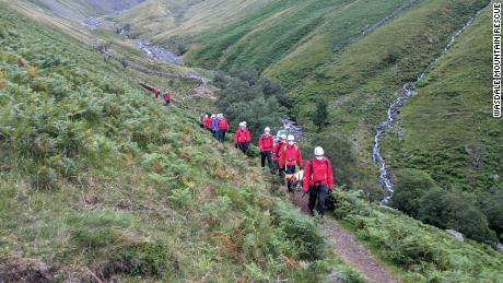 The rescue operation took a total of five hours and 16 team members of the Wasdale Mountain Rescue Team.