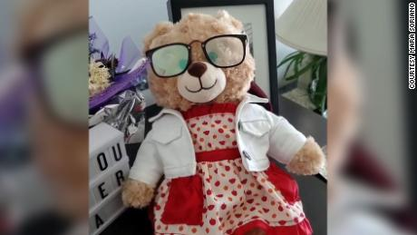 Before Marilyn Soriano passed away last year, she gave this bear to her daughter, Mara Soriano. It includes a voice memo.