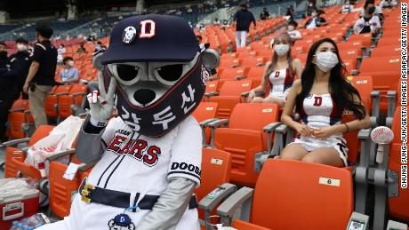No beer, no food and less chanting. The new normal for baseball fans in South Korea