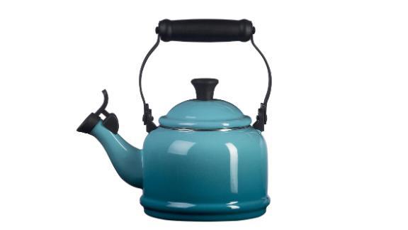 Le Creuset Enamel-on-Steel Demi Tea Kettle in Caribbean