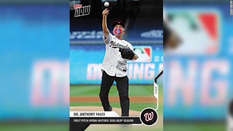 Dr. Anthony Fauci isn't the Nationals' new ace, but he's cemented his place in baseball lore with his own best-selling card.