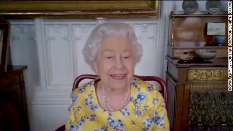 Queen Elizabeth II attends virtual portrait unveiling via video call