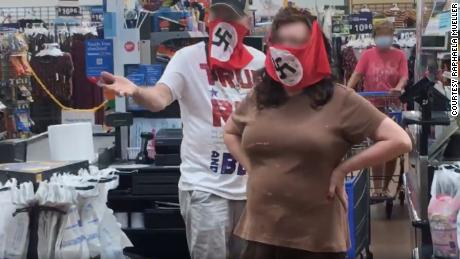 Walmart bans couple seen in video wearing the Nazi swastika on their face coverings