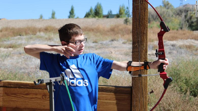 Brady Thompson, 16, of West Des Moines, Iowa, has attended medical specialty camp Roundup River Ranch in Gypsum, Colorado, for the past three summers. This year, the camp went virtual due to Covid-19 safety measures.