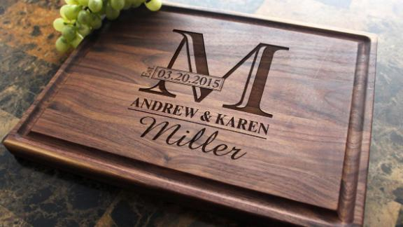 Personalized Monogram Engraved Cutting Board