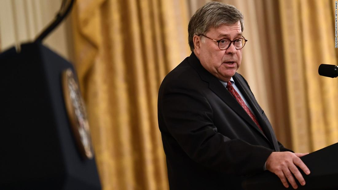 Barr attacks Justice Department staff compares them to preschoolers – CNN