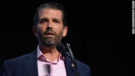 Donald Trump Jr. speaks during a Students for Trump event at the Dream City Church in Phoenix, Arizona, June 23, 2020. (Photo by Saul Loeb/AFP/Getty Images)