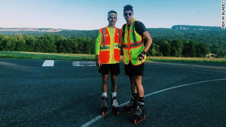 Andrew Walker, left, and Jacob Adkins documented their journey on Instagram.
