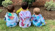 Maya Joyandeh of Teaneck, New Jersey, enlisted her 6-year-old daughter (center) to tie-dye sweatshirts for her younger brothers.