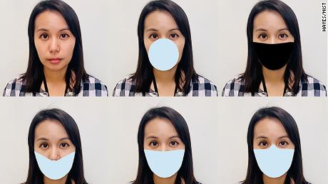 NIST digitally applied mask shapes to photos and tested the performance of face recognition algorithms developed before COVID appeared. Because real-world masks differ, the team came up with variants that included differences in shape, color and nose coverage.