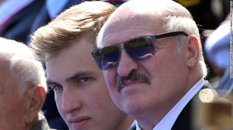 Президент Беларуси Александр Лукашенко с сыном Николаем в Москве.