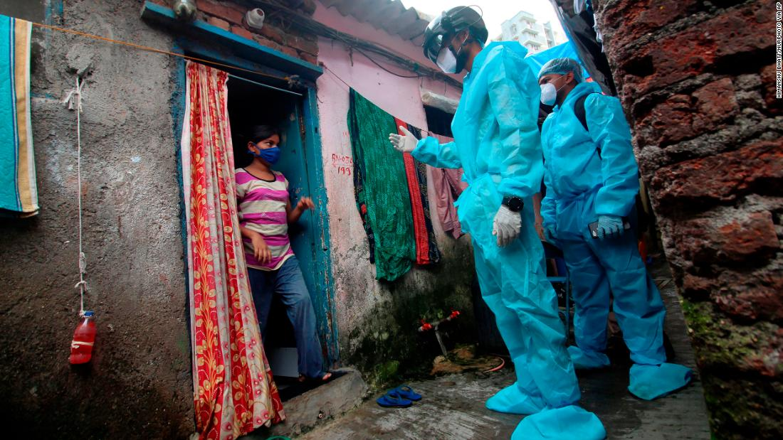 More than half of Mumbai slum residents may have been infected with Covid-19, study suggests