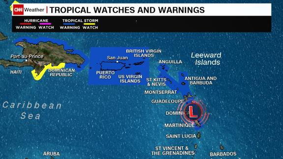 Tropical storm warnings for parts of the Caribbean