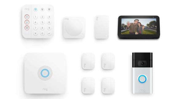 Ring Alarm 8-Piece Kit with Ring Video Doorbell and Echo Show 5