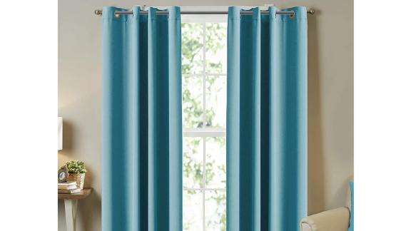 Turquoize Thermal Insulated Solid Grommet Blackout Curtains