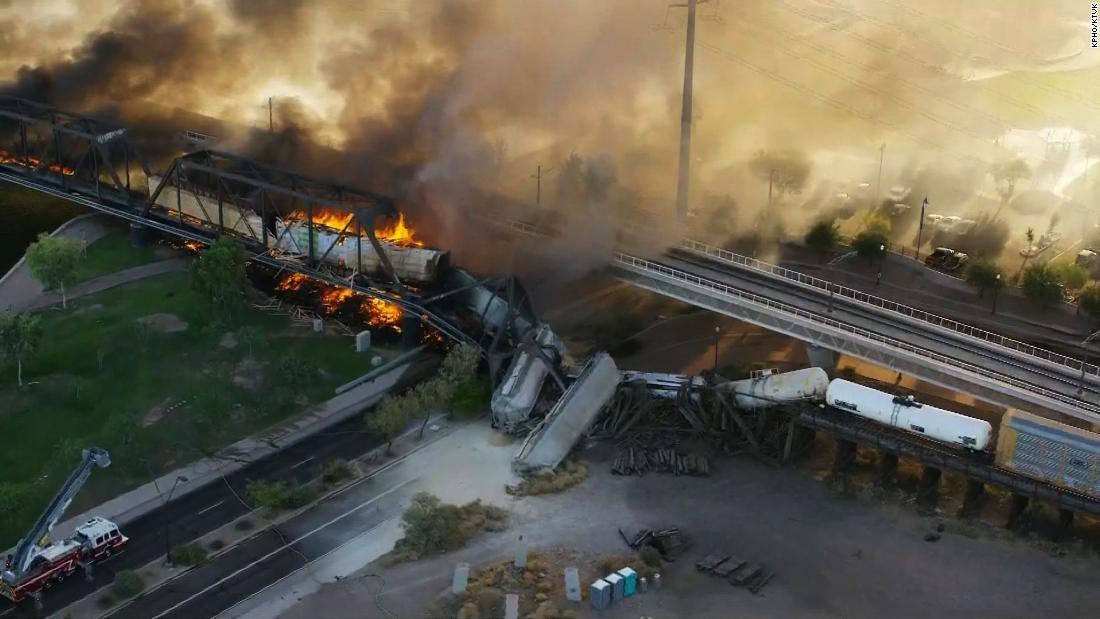 Arizona train derailment and fire described as 'a scene from hell' – CNN