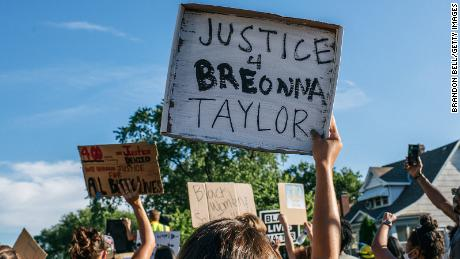 People march in the streets during a demonstration on June 26, 2020 in Minneapolis, Minnesota.
