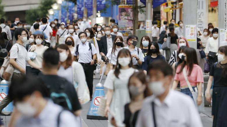 Masks were commonly used in Japan even before the pandemic. Now their use is widespread.