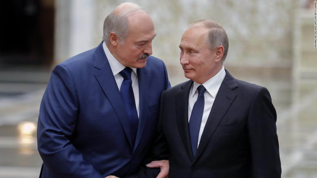 Belarus leader calls Putin to reaffirm mutual cooperation later rejects foreign mediation offers – CNN